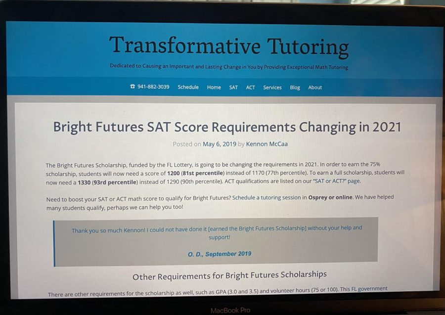 Bright+Futures+is+a+scholarship+program+offered+to+students+in+the+state+of+Florida+with+certain+SAT%2FACT+scores%2C+but+this+year+there+is+talk+of+changing+that.+