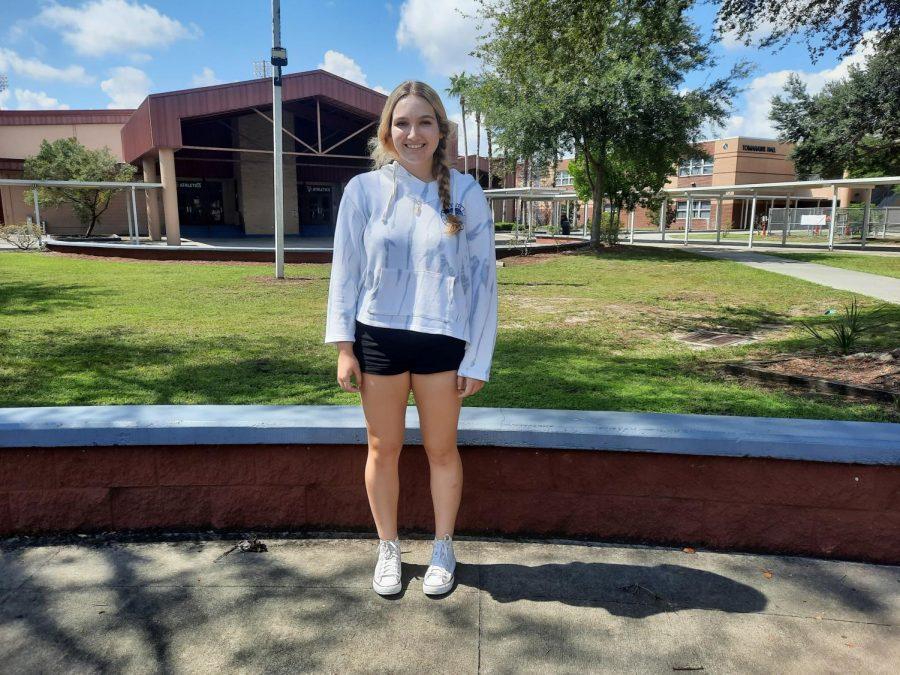 Seminole High School Senior and Varsity volleyball setter Haley Elbert pictured above.